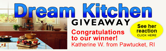 Dream Kitchen Giveaway! Congratulations to our winner!